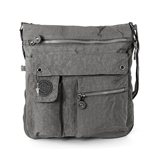 Unbekannt Bag Street Umhängetasche Bodybag, L, Grau