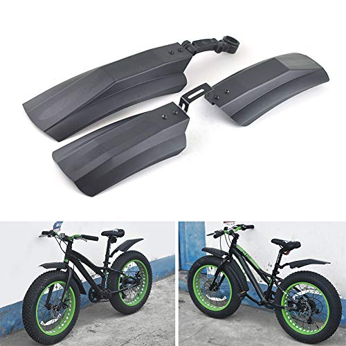 æ— Bike Fender Set Bicycle Mudguard,26 Inch Plastic Bike Front & Rear Fenders Durable Tyre Mudguards for Fat Tire Mountain Bike