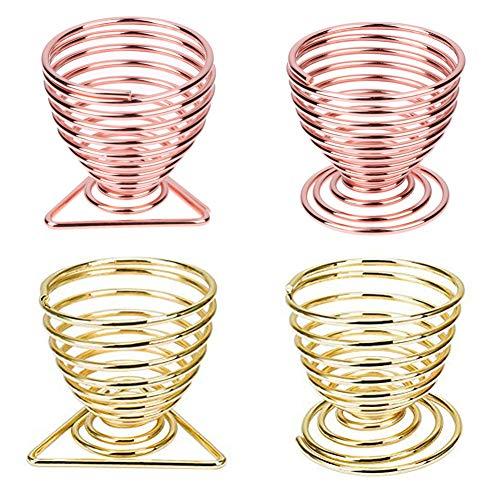 INTVN Porta Spugna Trucco Frullatore Soffio Supporto Strumenti Trucco 4 Pezzi (Oro & Oro Rosa)