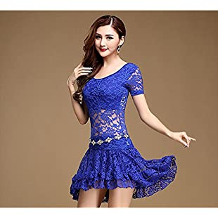 Xueyanwei Professional Lady Belly Dance Costumes Indian Dance Dress Exercise Clothes Dance Competition Performance Dress,Blue,M