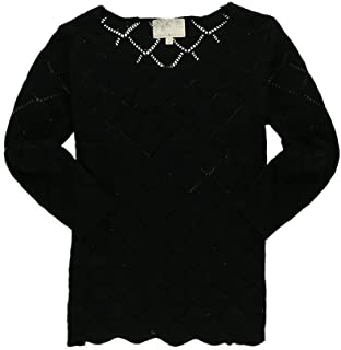 Womens Pointelle Pullover Sweater