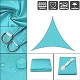 Sun Shade Sail 300D 160gsm Heavy Duty Parasol Vela Impermeable Jardín UV toldo del Patio Tienda del pabellón de la sombrilla Refugio de Camping al Aire Libre