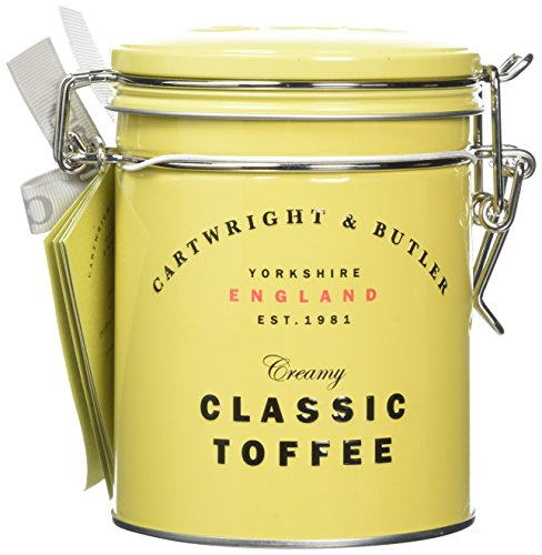 Cartwright and Butler Yorkshire Gift Tin filled with creamy, buttery Sea Salted Toffee