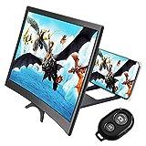 CestMall Combinaison de la loupe à écran incurvé du téléphone et de la télécommande de l'obturateur de la caméra, amplificateur de Smartphone à écran 3D HD de 12 pouces