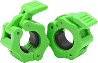 IADUMO Standard Bar Collars Quick Release Barbell Clamps 1 Inch Safety Weight Plates Clips Pair Collar Clamp Standard Curl Bar Clip Fast Locking Weightlifting,Strength Training/Gym.
