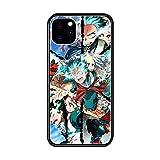 Funda iPhone 12 Mini Case,Anime My Hero Academia Midoriya Izuku Funda Protectora De Silicona Suave Al Tacto Negro B-039