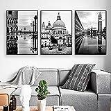 Venedig Italienische Landschaft Poster und Drucke Schwarz