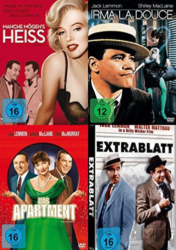 Billy Wilder & Jack Lemmon - Klassiker Collection MANCHE MÖGENs HEIß + IRMA LA DOUCE + DAS APARTMENT + EXTRABLATT 4 DVD Edition