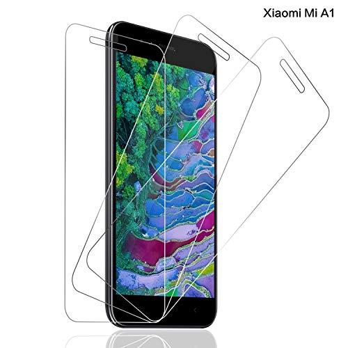 SNUNGPHIR Panzerglas für Xiaomi Mi A1 Schutzfolie, [3 stück] 9H Festigkeit Bildschirmschutzfolie, 3D Touch, Anti-Kratzer Schutzglas, Blasenfreie Transparent, Xiaomi Mi A1 Panzerglasfolie Bildschirmschutzfolie