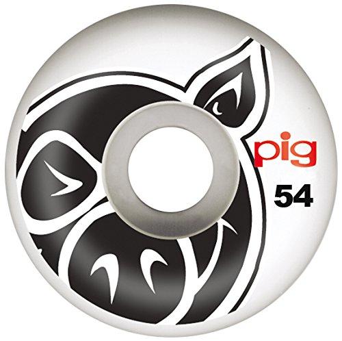 PIG-Skateboard-Rollen, 4 Stück Head Natural 53 mm - Head Logo Choice Wheels