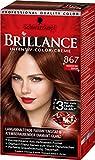 Brillance Intensiv-Color-Creme 867 Mahagoni-Braun, 3er Pack (3 x 143 ml)