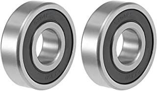 uxcell 6304-2RS Deep Groove Ball Bearing 20x52x15mm Double Shielded ABEC-3 Bearings 2-Pack
