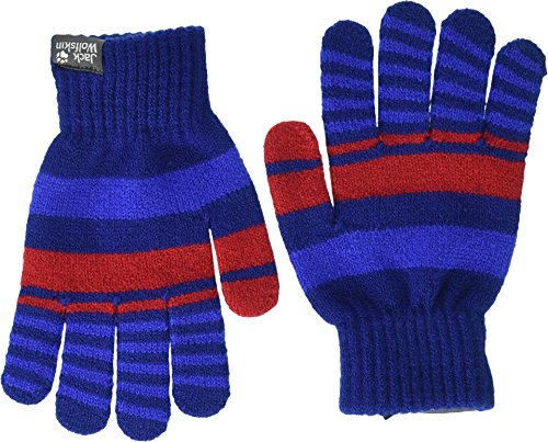 Jack Wolfskin Cross Knit Gloves Kids Gants pour Temps Froid, Royal Blue, One Size Mixte Enfant