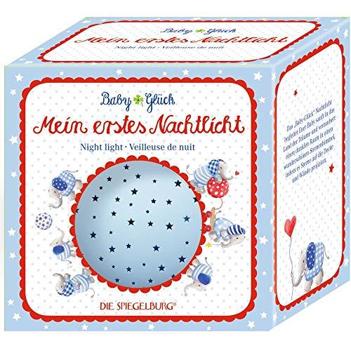 Die Spiegelburg 15283 Nachtlicht Sternenhimmel BabyGlück, hellblau (Elefant)