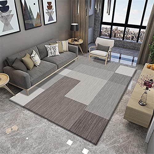Carpet bedroom accersories Brown gray striped geometric design living room sofa dirty carpet rug decor for living room non slip rug mat 80*160cm