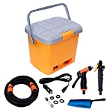 DSM Enterprice Portable 12V DC Electric High Pressure Automatic Car/Bike Washer Water Spray Gun with 16 Liter Water Tank Perfect for Washing Vehicle, Cars