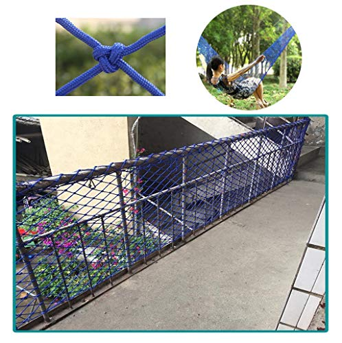 Affordable Safety Outdoor Railing Net Blue Safety Net, Kindergarten Decor Net Balcony Banister Stair...