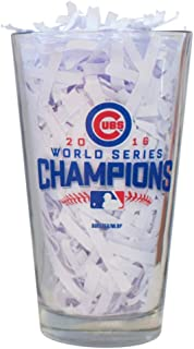 Cubs Beer Glass 2016 World Series Champions Mug (Blue Trophy)