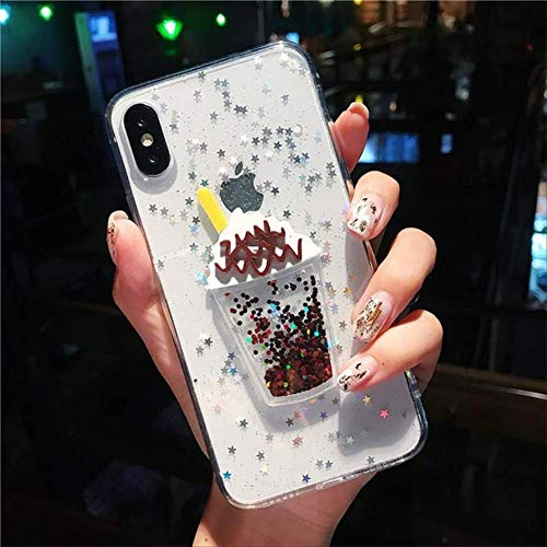 LIMITED Bling Glitter Star Clear Funda de teléfono para iPhone XS MAX 11 Pro XR X 7 8 6s Plus Hello Kitty Ice Cream Quicksand Contraportada para iPhone 6 Plus Style 2