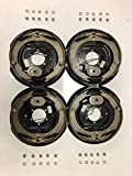 M-Parts 2 Pair 12' X 2' Electric Trailer Brake Assembly for 5.2K, 6K, 7K lbs Trailer Axles; 2 Left Hand (77-12-1)+ 2 Right Hand (77-12-2); Free Hardware Included