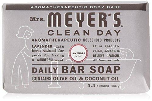 Mrs Meyers Bar Soap Hard 5.3oz Lavender Scent, 12 Count