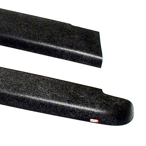 Wade 72-40601 Truck Bed Rail Caps Black Smooth Finish without Stake Holes for 1980-1996 Ford F-150 F-250 & 1980-1998 Ford F-350 with 8ft bed (Set of 2)