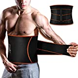 ZOHUMI Waist Trimmer for Men,Wide Sauna Waist Trainer,AB Belt with Dual Compression Mesh Straps and Flexible Back Support for Fitness