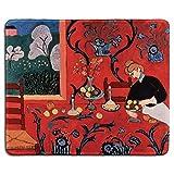 Kunst Mousepad - Naturkautschuk Mauspad mit berühmten Fine Art Gemälde der Harmonie in Rot von Henri Matisse - Genähte Kanten - 9,5 x 7,9 Zoll