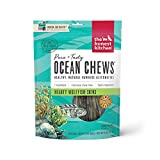 The Honest Kitchen Wolffish Ocean Chews Grain Free Dog Chew Treats – Natural Human Grade Dehydrated Fish Skins 6 oz
