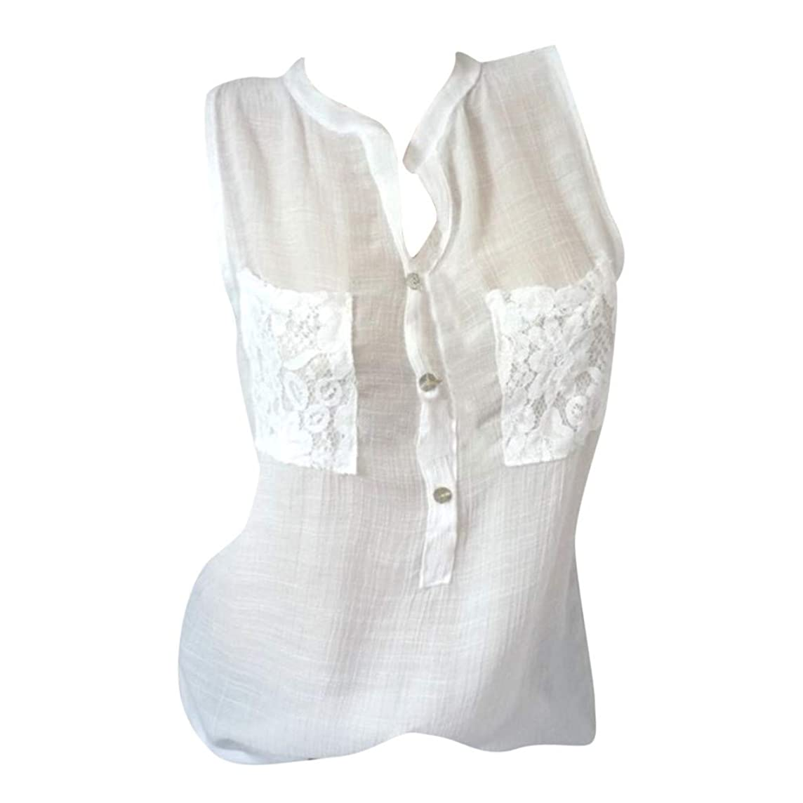 VEZAD Women Shirt Casual Sleeveless Print Tops Solid Fashion Loose Plue Size Blouse
