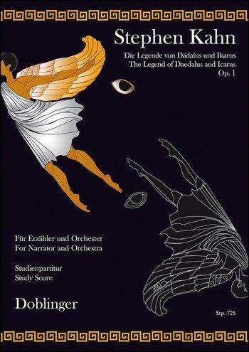 Die Legende von Dädalus & Ikarus Opus 1 für Erzähler, Orchester - Studienpartitur
