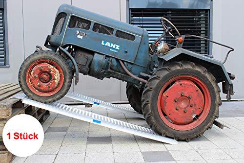 1 Stück TrutzHolm® ALU Auffahrrampe 200 cm | 1000 kg pro Stück | 2000 kg pro Paar Verlade Rampe Auto Verladerampen