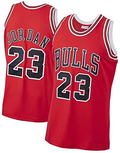Camiseta De Baloncesto para Hombre, Camiseta De Baloncesto Bulls # 23 Jordan, Chaleco Deportivo Unisex De PoliéSter Que Absorbe El Sudor, Transpirable Y CóModo. (S-5xl) 4XL Red