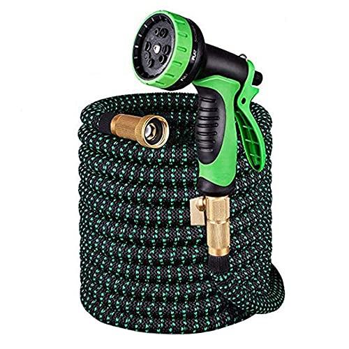 Manguera de jardín Tubería de Agua Extensible con Boquilla rociadora de Diez Funciones Tubería Flexible antifugas para regar y Lavar 25 pies-100 pies