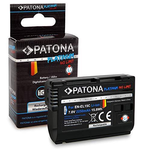 PATONA Platinum Batteria EN-EL15C da 2250mAh compatibile con Nikon Z5, Z6, Z6II, Z7, Z7II, D7500 D7000, affidabile e con qualità garantita