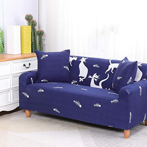 HXTSWGS Cubiertas Elegantes de los Muebles,Funda de sofá elástica, Tejido elástico, Funda Protectora para Muebles-Azul 1_145-185cm
