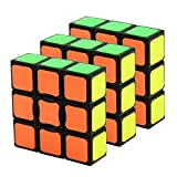 GoodCube 1x3x3 Floopy Cube, Sticker 3x3x1 Speed Cube Puzzle Toys Black (3 Pack)