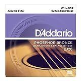 D'Addario EJ26X5 (5 sets) Acoustic Guitar Strings, Phos/brnz, rnd wnd, Cust light (.011-.052)