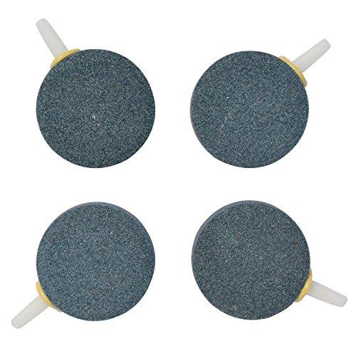 Uniclife 4cm Luft Stein Blase für Aquarium Fischteich Pumpe Keramik AirStones Diffusor Belüfter, 4er Pack