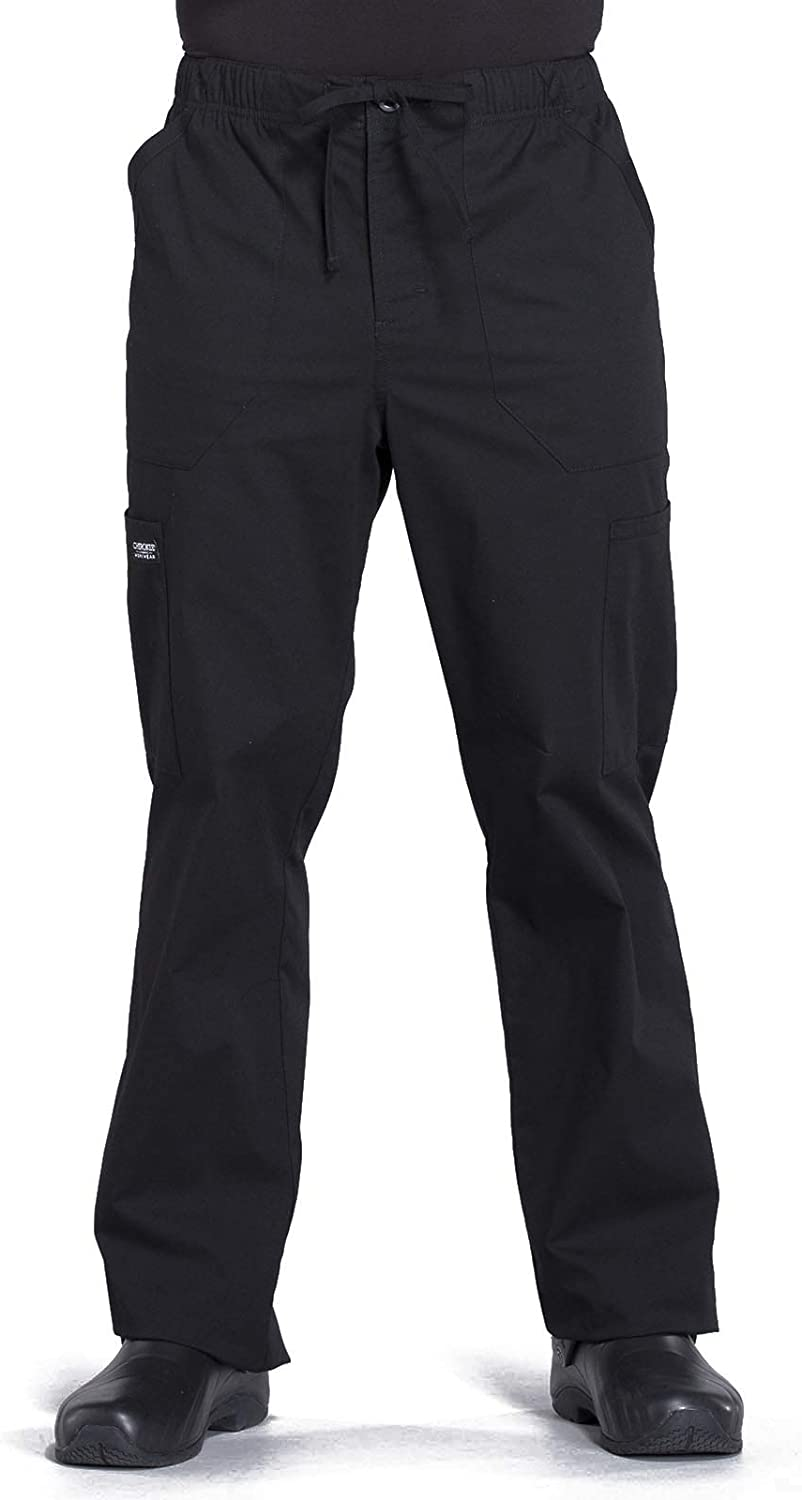 Workwear Professionals Men Scrubs Pant Tapered Leg Fly Front Cargo WW190