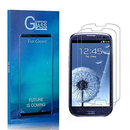 The Grafu Displayschutzfolie für Galaxy S3, 9H Displayschutz, Keine Luftblasen, 3D Touch Schutzfilm aus Gehärtetem Glas für Samsung Galaxy S3, 2 Stück
