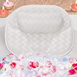 SMRONAR Bath Pillow, Luxury Bathtub Pillow, Ergonomic Bathtub Cushion for Head, Neck, Back and Shoulder Support, with 3D Air Mesh Technology and 6 Suction Cups, for All Bathtub, Hot Tub