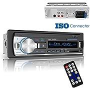 Bluetooth Car Stereo Receiver, Universal Single Din Car Radio, Dansrueus Car Stereos Audio In Dash FM Radio Receiver MP3 Player/USB/SD Card/AUX with Remote Control, Black