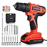 20V Cordless Drill Driver, JUEMEL 100 PCS Accessories Power Drill, Electric Screwdriver Set