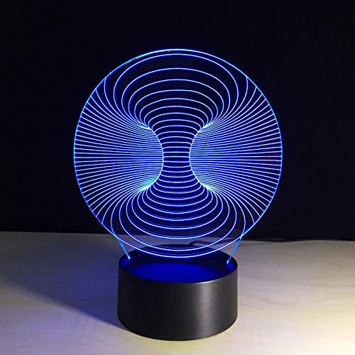 Kjfgkf @ 3D Nachtlicht 3D Usb Schlafzimmer Nachttischlampen Tischlampe Touch Schalter Abstrakte Design Visuelle Concave Grafiken Nachtlicht Geschenke Led