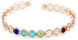 Tennis bracelets for women round and colorful brass for Mother's Day