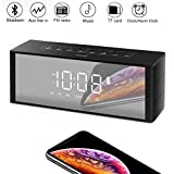ZealSound Radio Bluetooth, Multifunktions Bluetooth-Lautspreche Wecker mit Radio, Uhr, Bluetooth Lautsprecher mit LED Bildschirm, Bluetooth Wecker mit UKW-Radio/TF-Karten-Slot für...