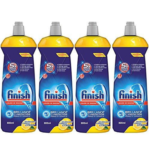 Finish Liquide de Rinçage Citron 800 ml - Lot de 4