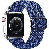 Vecann intrecciato Nylon Cinturino Solo Loop compatibile con Apple Watch 38mm 40mm 41mm 42mm 44mm 45mm, regolabile Sport Elastici Cinturino di ricambio traspirante con iWatch serie SE 7/6/5/4/3/2/1