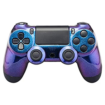 eXtremeRate Custom Design Unique Chameleon Purple Blue Glossy Front Housing Shell Faceplate Playstation 4 PS4 Controller JDM-001 JDM-011 JDM-020 - Controller NOT Included